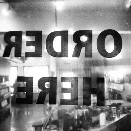 black and white restaurant lunch kitchen