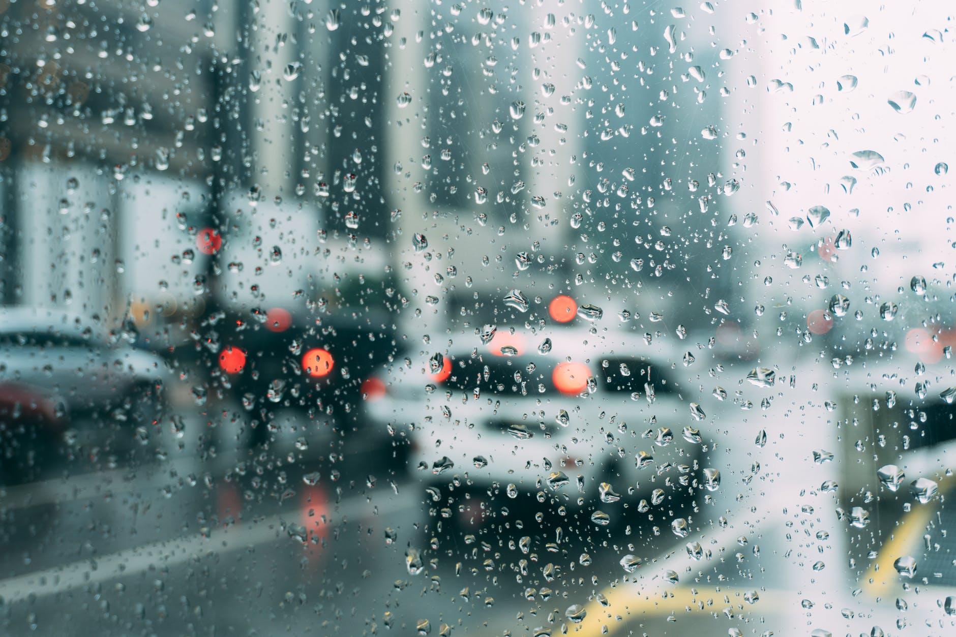 blur cars dew drops