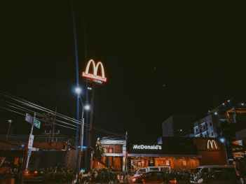 mcdonald store at nigh time