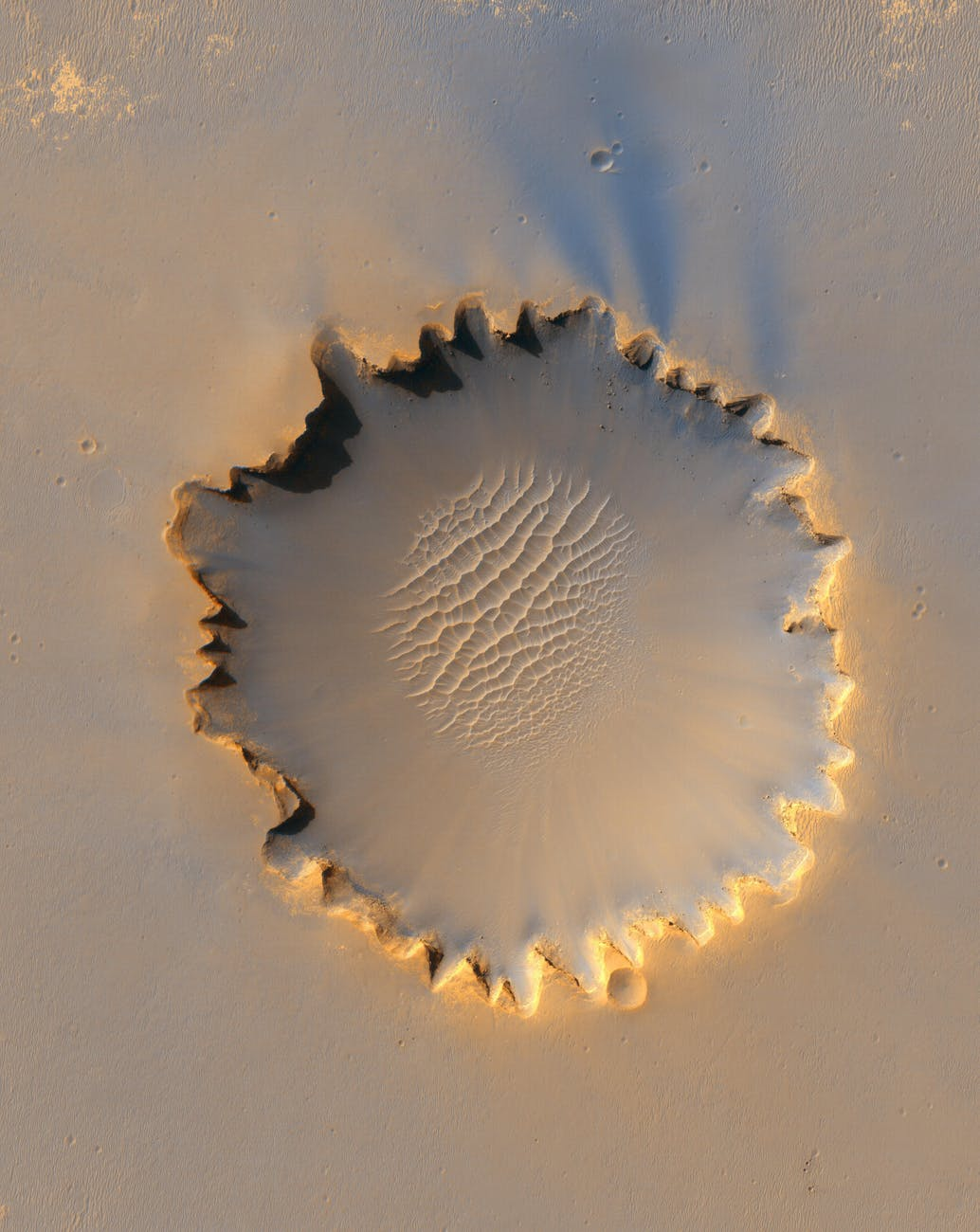 brown and black crater