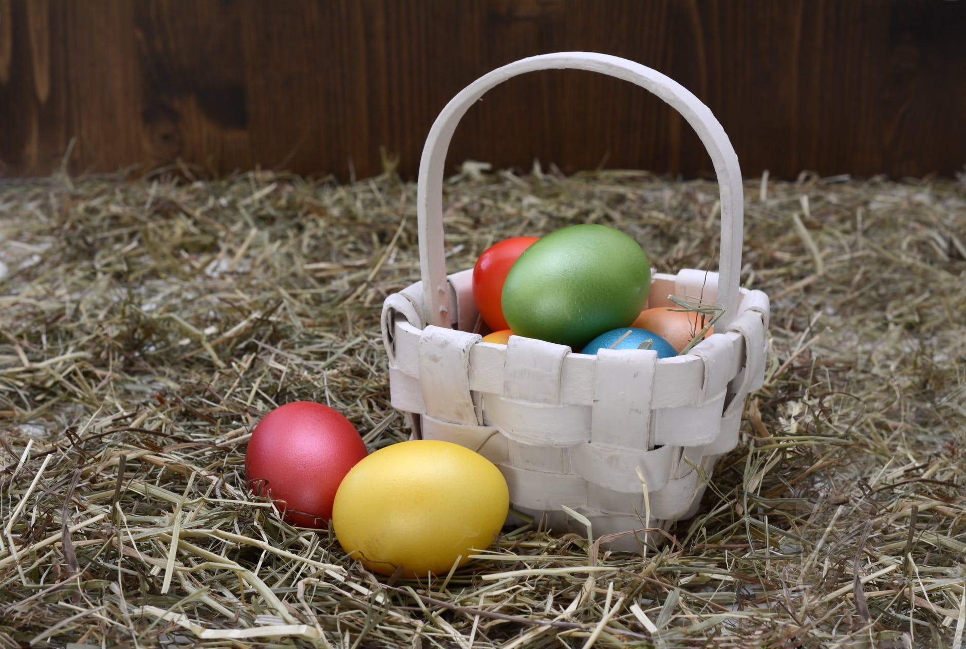 basket colourful decoration easter