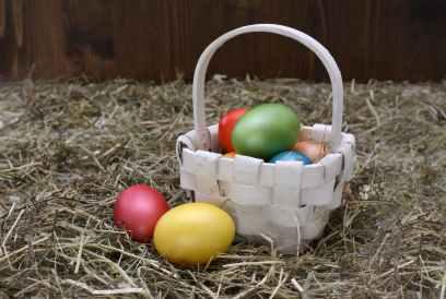 basket colourful decoration easter