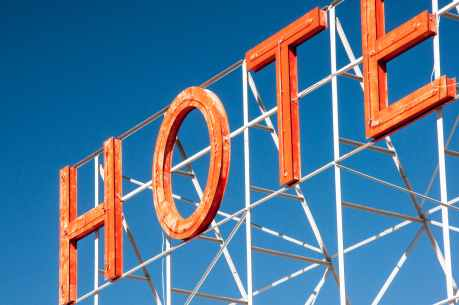 hotel sign neon letters