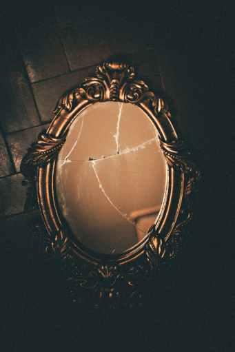 brass framed wall mirror