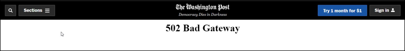 WP bad gateway