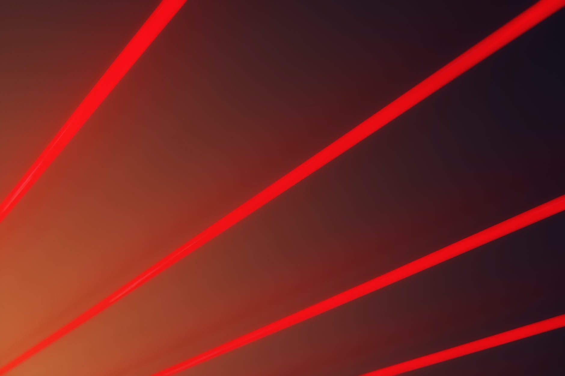 red light beams